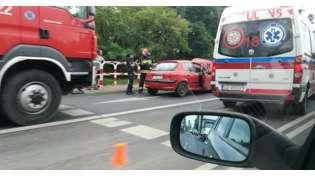 Kolizja 4 aut na skrzyżowaniu Mostowej i Szamotulskiej